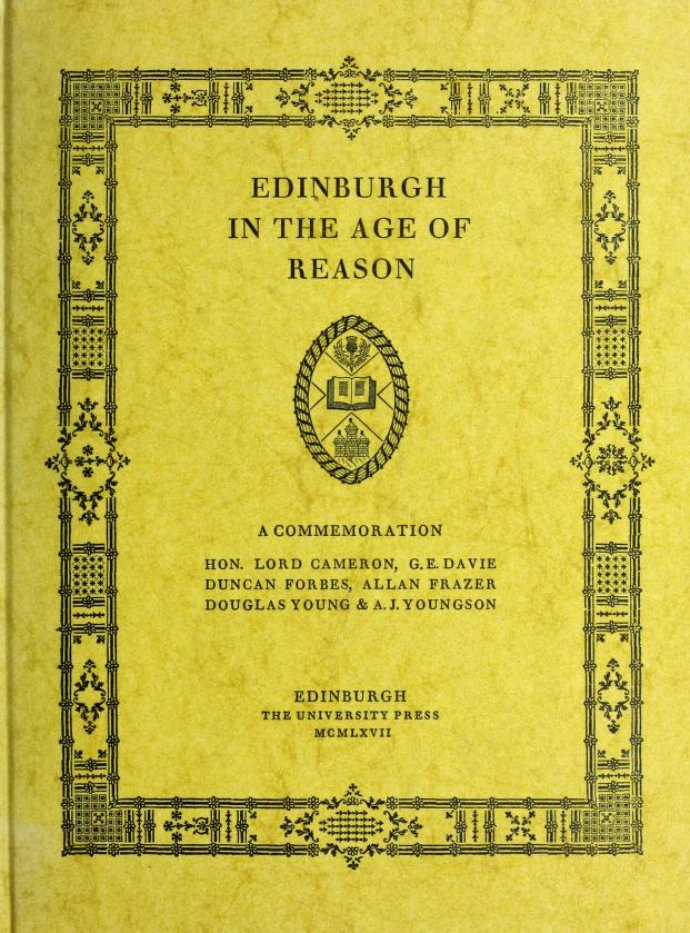Edinburgh in the age of reason by by Douglas Young [and others]