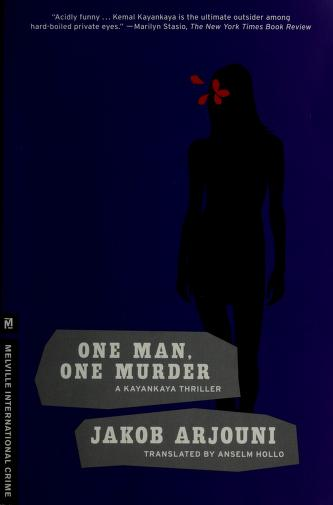 Cover of: One man, one murder   Jakob Arjouni